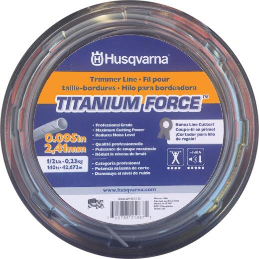 Husqvarna Titanium Force 0.095 In. x 140 Ft. Trimmer Line